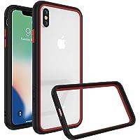 RhinoShield Coque pour iPhone XS Max [CrashGuard NX] Protection Fine Personnalisable avec Technologie Absorption des Chocs [sans BPA] + [Programme de Remplacement Gratuit] - Combo Noir/Rouge