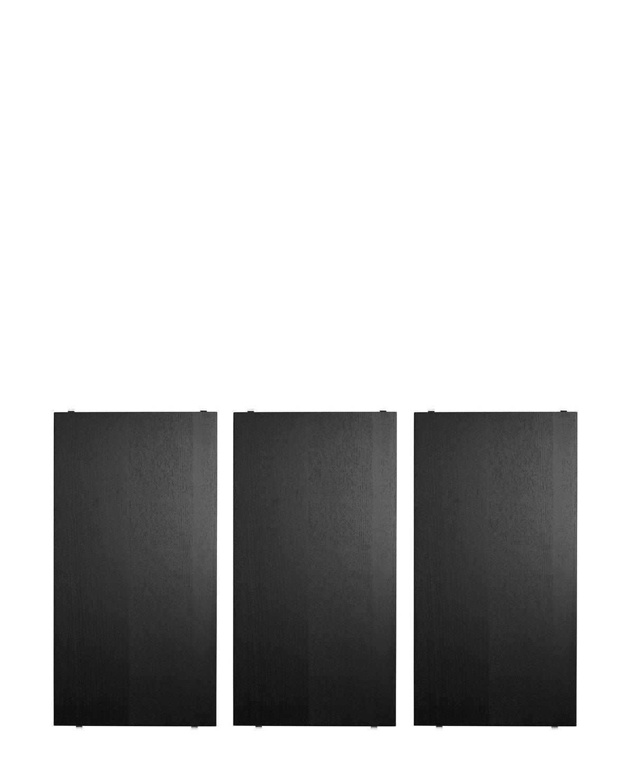 String Fachboden Set System 58 x 30 cm, cm, cm, esche gebeizt schwarz 1bb966