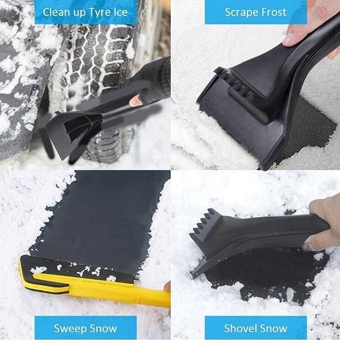 ZJN-JN Aspiradora, Quita hielo de coches, multifuncional 2-en-1 de la nieve del cepillo Raspe EVA esponja cabeza de hielo removedor for el carro SUV del parabrisas de cristal Cuidado de Automóviles In: