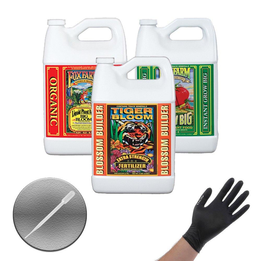 Fox Farm Liquid Nutrient Trio Soil Formula: Big Bloom, Grow Big, Tiger Bloom (Pack of 3 - 1 Gallon Bottles) + Twin Canaries Chart & Pipette by Fox Farm (Image #2)
