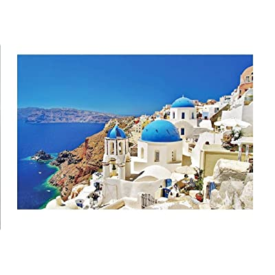 Jigsaw Puzzles for Adults 1000 Pieces,Binory Challenge Picture Puzzle Intelligent Toy Brain Game Personalized Gift for Kids Adults and Seniors - Santorini Island,Greece: Toys & Games