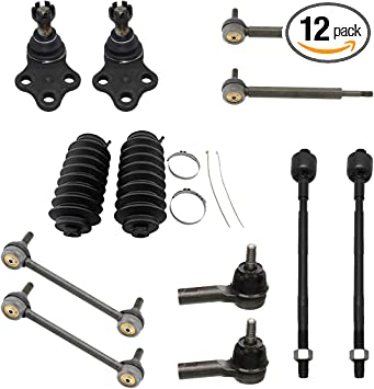 10pc Lower Ball Joints /& Sway Bars /& Tie rods /& Boots Set for 1996-2004 Nissan Pathfinder 1997-2003 QX4 Detroit Axle