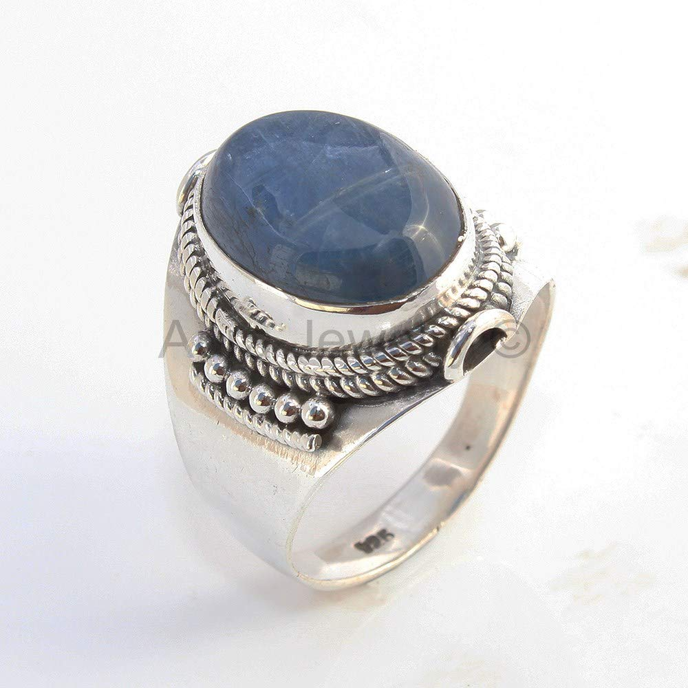 Sterling Silver Kyanite Ring Cocktail Mothers Day Gift Bridesmaid Gift Solid 925 Sterling Silver Rings for Women /& Girls Handmade Jewelry