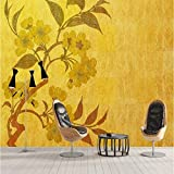 Mbwlkj 3D Vintage Wall Decor Golden New Chinese Hd Wall Murals Best Wallpapers Bedroom Wallpaper Ideas Kids Bedroom Decorating Ideas Study-350Cmx245Cm