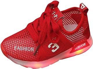 Babyschuhe Kinderschuhe, Sportschuhe Turnschuhe Leicht Atmungsaktiv Sneaker LED Leuchtet Laufschuhe Freizeit Sneaker für Mädchen Jungen Mesh Schuhe Unisex Fitnessschuhe
