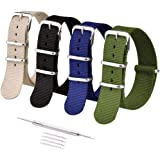 Ritche 16mm 18mm 20mm 22mm 24mm NATO Watch Straps,Nylon Men Women Bands