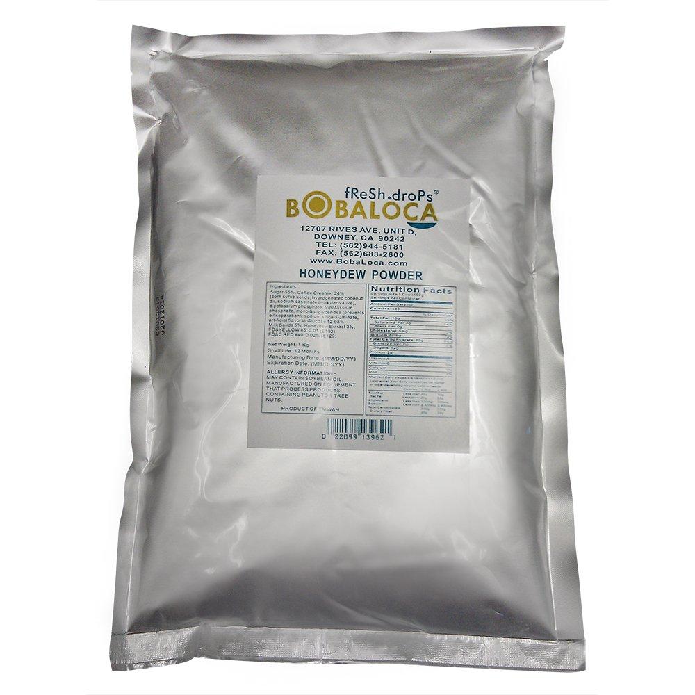 Boba Loca Honeydew Milk Powder Mix, 2.2 lbs (1kg) bag