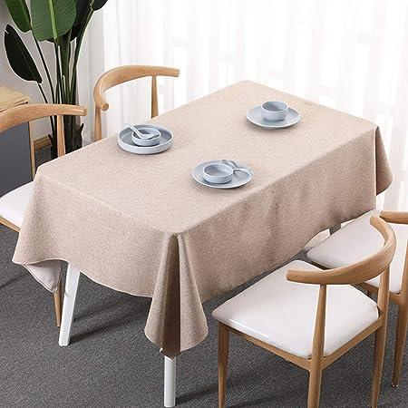 Mantel Rectangular, Nórdico Algodón Y Lino Pequeña Fresco Manteles Casa Mesa De Café Mantel Cuadrado (Color : Linen, Size : 90 * 90cm): Amazon.es: Hogar