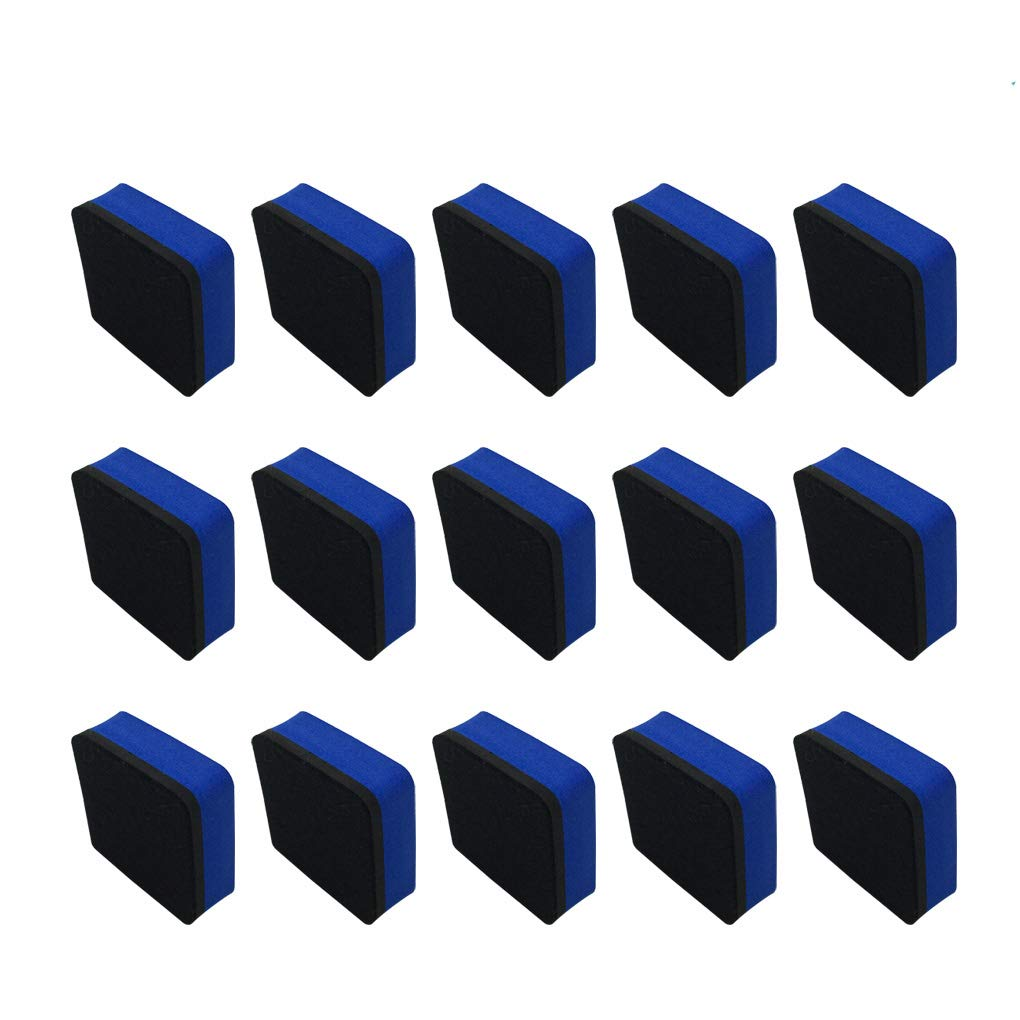 30 Pcs Magnetic Whiteboard Dry Eraser - HYHP Blue Magnetic Eraser for Dry Erase Pens and Markers, Chalkboard Cleansers Wiper for Home, Office, School Using (2 x 2 Inch)