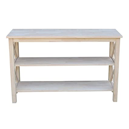 0be4a5e6d1d5 Amazon.com  International Concepts OT-70S Hampton Console or Sofa Table  Unfinished  Kitchen   Dining