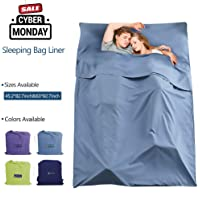 Make you perfect Cotton Sleeping Bag Liner Lightweight Camping Travel Sheet for Backpacking,Hotel,Picnic,Hiking