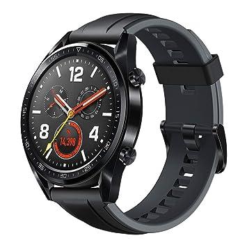 Huawei Watch GT Reloj inteligente, GPS, monitoreo del ritmo cardiaco, Negro, 46 mm