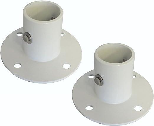 Par Aluminio Cubierta Brida para piscina escalera – 2 en.: Amazon.es: Jardín