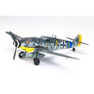 Tamiya 61117 1/48 Messerschmitt BF 109 G-6 Plastic Model Airplane Kit: Toys & Games