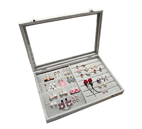 161dd08fe Jewelry Box Storage Box Earrings and Rings Holder Jewelry Containers:  Amazon.ca: Home & Kitchen