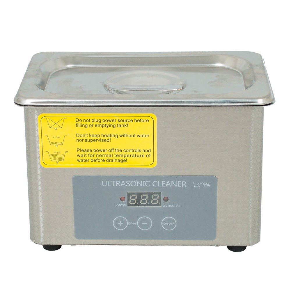 KANING Ultrasonic Cleaners Digital Timer for Cleaning Jewelry and Eyeglass 100-120V/40HZ 35W 0.8L stainless steel