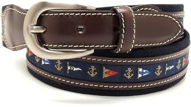 VAELLO - Cinturón de lona con motivos de banderas náuticas ...