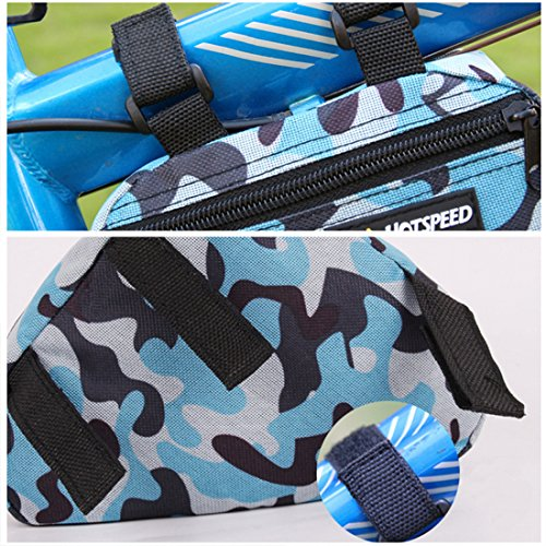 Bike Bags, ADiPROD Camouflage Cycling Bike Bicycle Front Tube Triangle Frame Pouch Pannier Case Bag