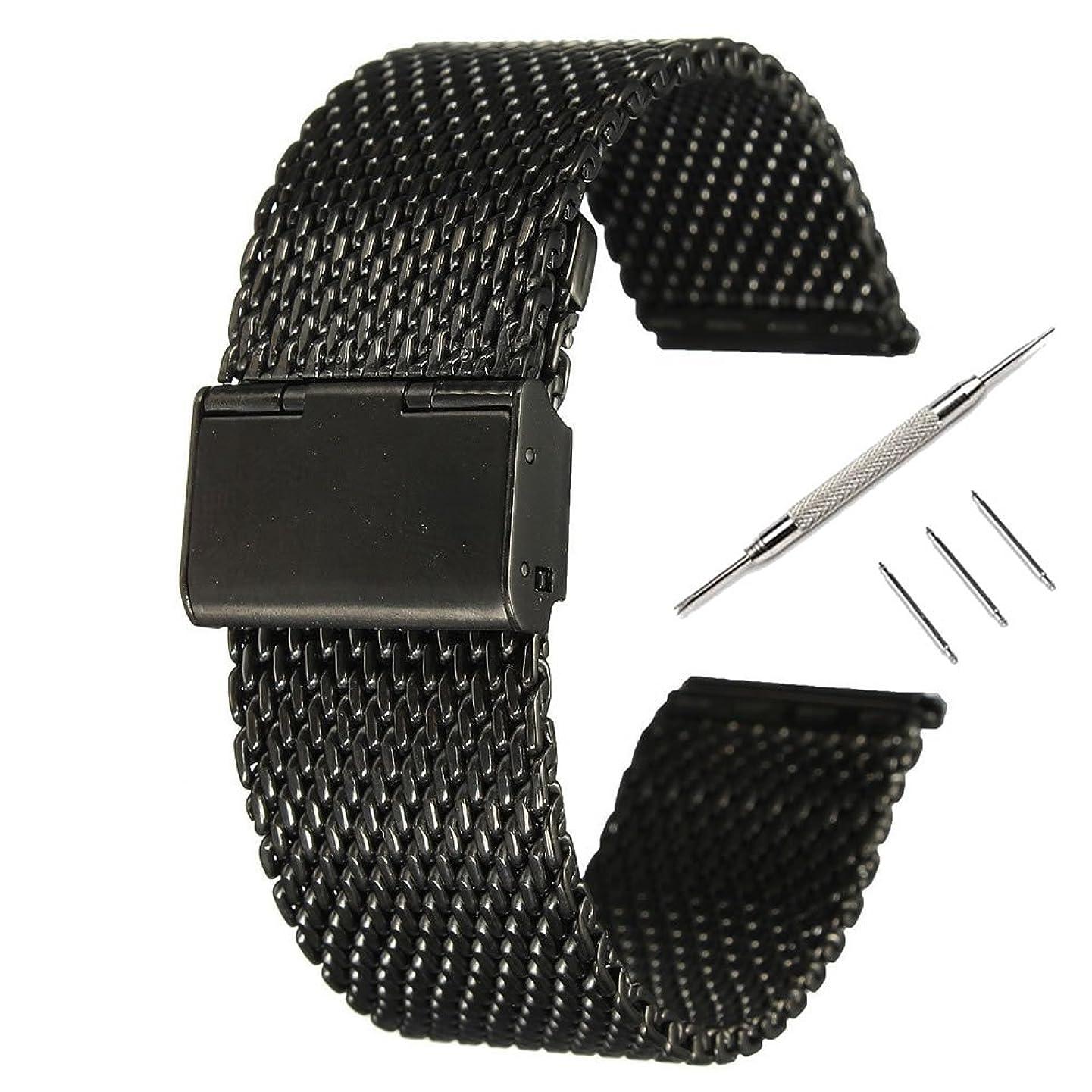 不潔なぜならタクト時計バンド ベルト、 Fullmosa 全6色 Smart watch バンド マグネット式 腕時計バンド ベルト ウォッチバンド ミラネーゼ メッシュバンド 交換ベルト