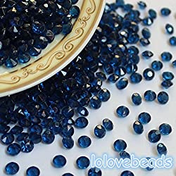 Zehui Navy Blue Acrylic Diamond Confetti Wedding Party Decoration Blue 2000 Pcs