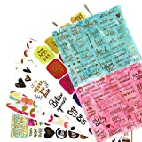 Motivational Stickers and Inspirational Quote Stickers for Your Laptop, Scrapbook, and Planner by Navy Peony (250 Pieces)