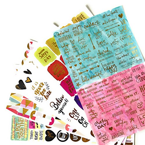 Motivational Stickers and Inspirational Quote Stickers for Scrapbooking & Crafts
