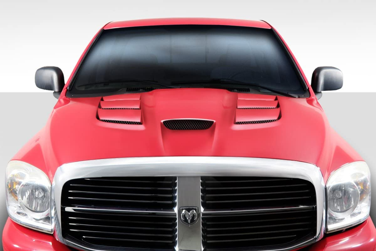 1 Piece Extreme Dimensions Duraflex Replacement for 2002-2008 Dodge Ram Cowl Induction Hood