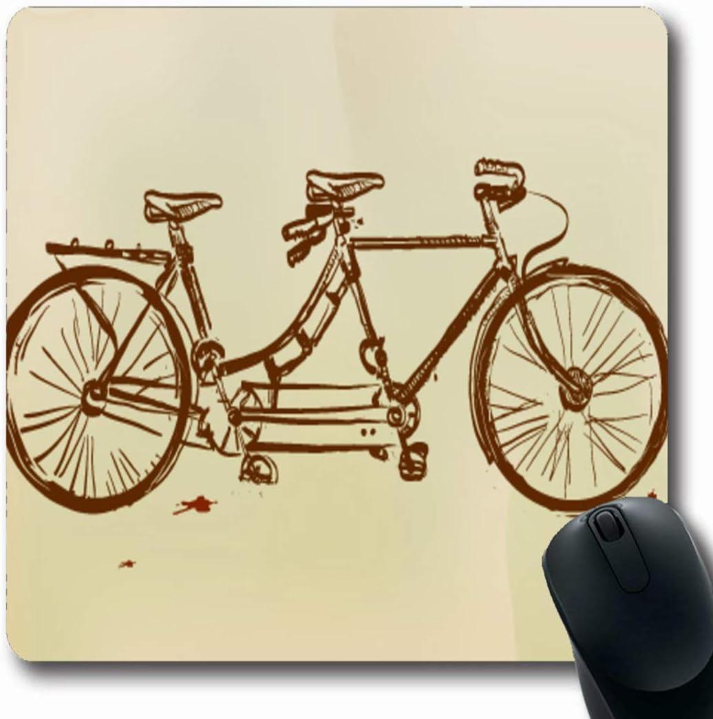 Luancrop Alfombrillas Combinadas Bicicleta Retro Tándem Bicicleta Ladyback Pluma Dibujo Vieja Doble Dama Pedal Rueda Conjunta Antideslizante Gaming Mouse Pad Goma Oblong Mat: Amazon.es: Electrónica
