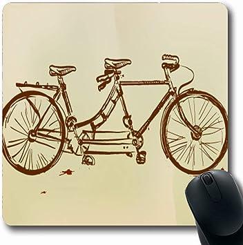 Luancrop Alfombrillas Combinadas Bicicleta Retro Tándem Bicicleta ...