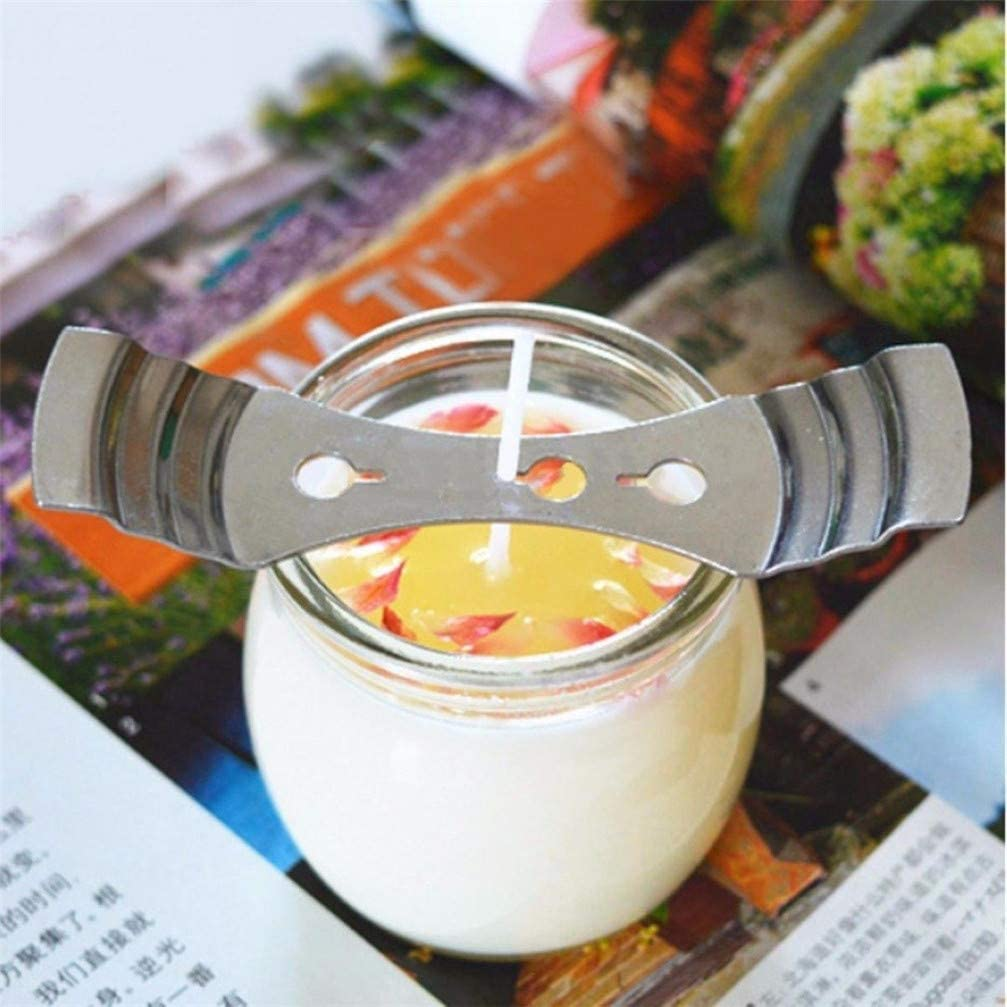 Metal Candle Wick Centering Devices for Candle DIY Making Supplies Candle Wick Holder Candle Core Holder 10pcs