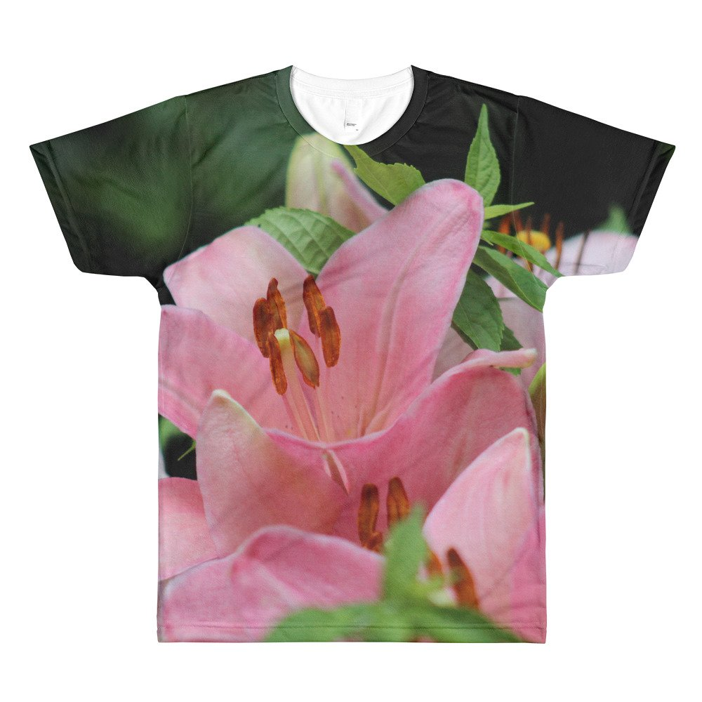 RashidEllis.com Bright Flower Mens All-Over Printed T-Shirt