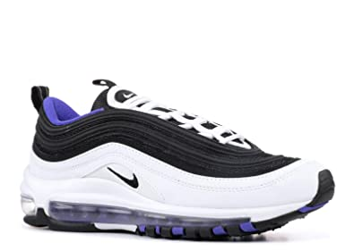 7b373485419a3 Amazon.com | Nike Air Max 97 White/Black-Persian Violet (GS) | Running