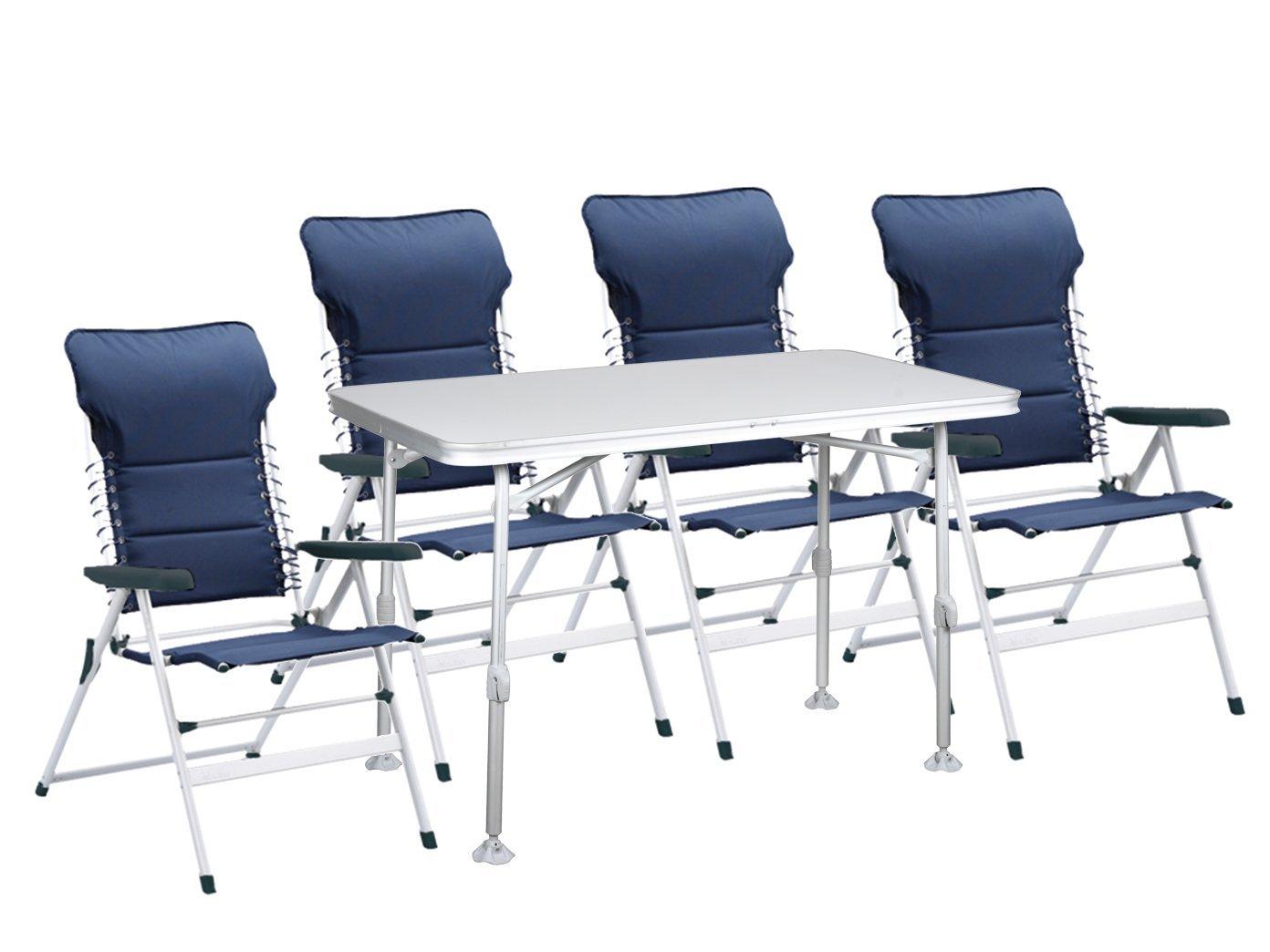 5tlg. Sitzgruppe Essgruppe für Garten und Camping, Tisch 115 x 70 x 75/55 cm; CH-0592 TA-0860