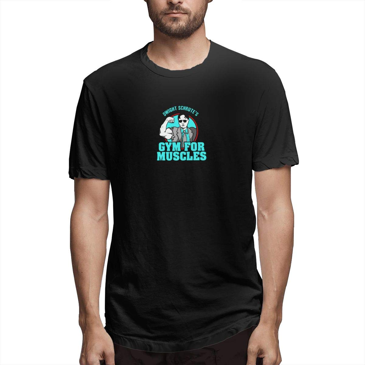 Retro Dwight Schrutes Gym Muscles Vintage T Shirt Tee