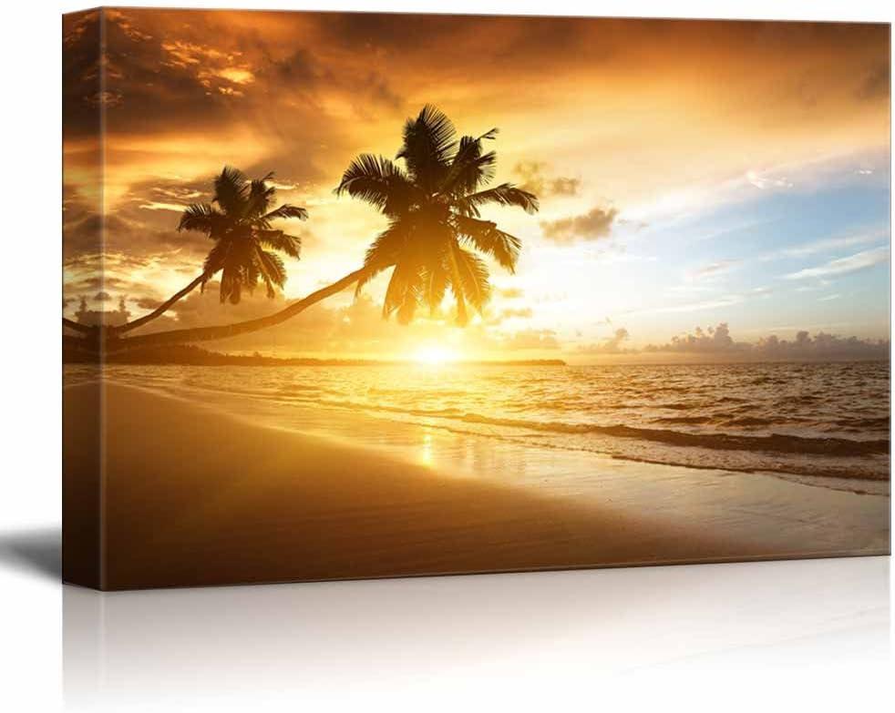 Sunset on The Beach of Caribbean Sea - Canvas Art Wall Art - 12