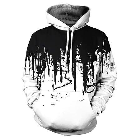jiuyaomai Sweatshirt Graffiti 3D impresión suéter con Capucha ...
