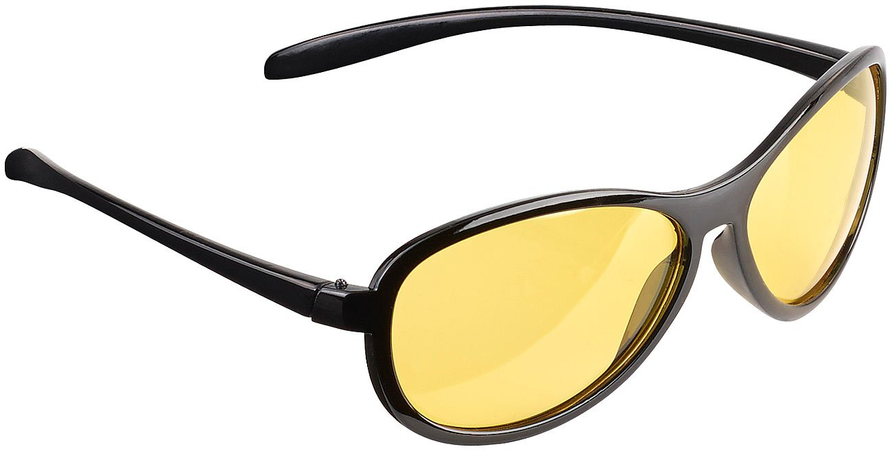 PEARL Nachtfahrbrille: Kontrastverstä rkende Nachtsichtbrille, polarisiert (Autobrille)