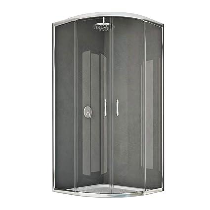 Box Doccia Semicircolare 80x80.Box Doccia Semicircolare 80x80 Cm H185 Trasparente Mod Junior