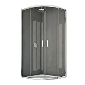 Cabina Doccia Semicircolare 70x90.Box Doccia Semicircolare 70x90 Cm H185 Trasparente Mod Junior