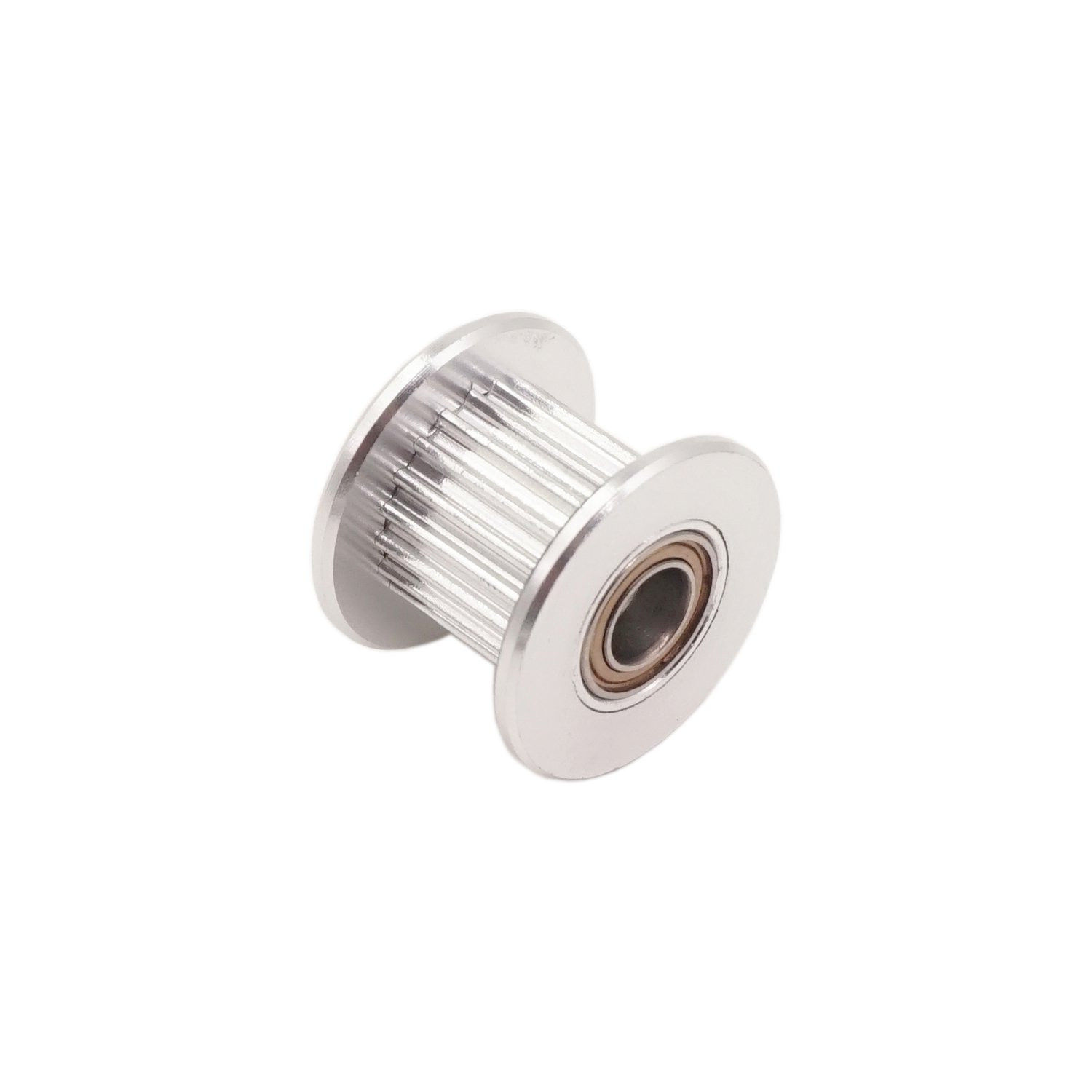 WINSINN 2GT GT2 Aluminum Timing Belt Idler Pulley 20 Teeth Tooth 5mm Bore for 3D Printer 10mm Width Timing Belt (Pack of 5Pcs) by WINSINN (Image #3)