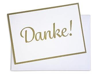 15 X Dankeskarten Danke Gold Und 15 X Umschlage Im Set