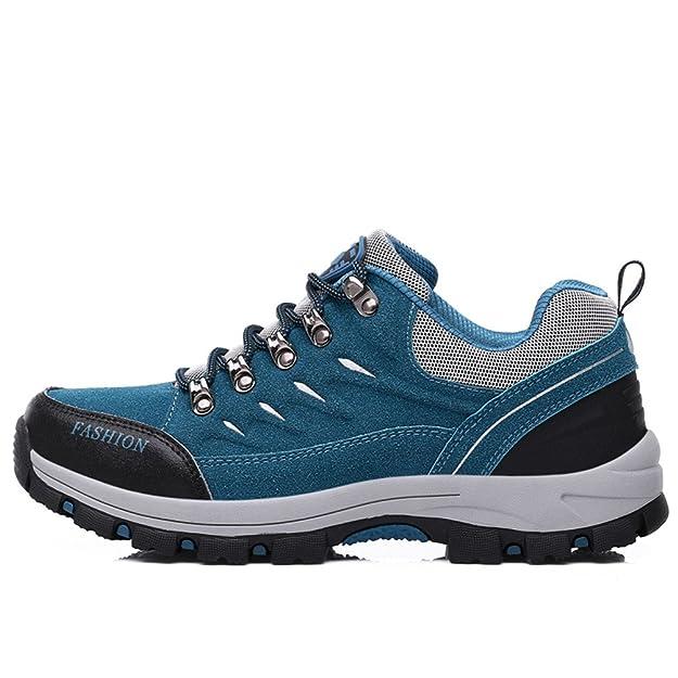 Dexuntong Unisex Erwachsene TrekkingschuheWasserdichte Wanderschuhe Hiking Sneaker Rutschfest Arbeitsschuhe für Herren Damen39-44 VdLF9OT