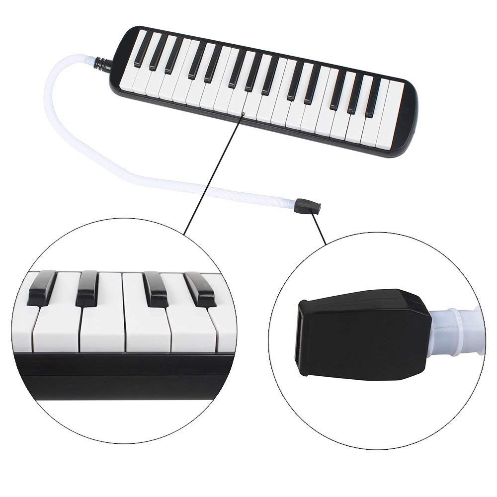 Timiy 32 Keys Melodica Piano with Mouthpieces Tube & Carrying Bag Musical Instrument Black by Timiy (Image #3)