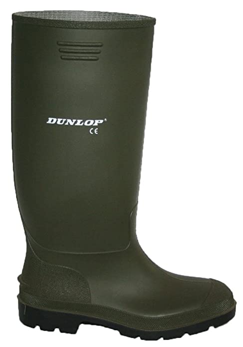 DUNLOP WELLIES BLACK AND GREEN MENS FULLY WATERPROOF SIZES 312  Amazoncouk Clothing