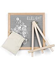 Kidsidol Felt Letter Board 10x10 Changeable Wooden Message Board 340 Letters Solid Oak Frame with Stand Hook and Storage Bag (Gray)