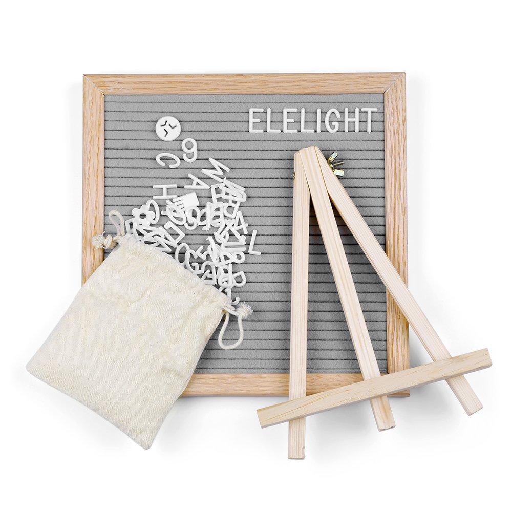 Kidshome Wooden Felt Message Board 340 Letters Number & Symbols Changeable Retractable Stand Reminder Versatile Modern Decoration Base Hook (Bag Included) (black)