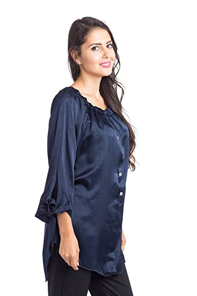 Abbino 66450 Blusa Top para Mujer 5 Colores - Verano Otoño Invierno Mujeres Femeninas Elegantes Formales