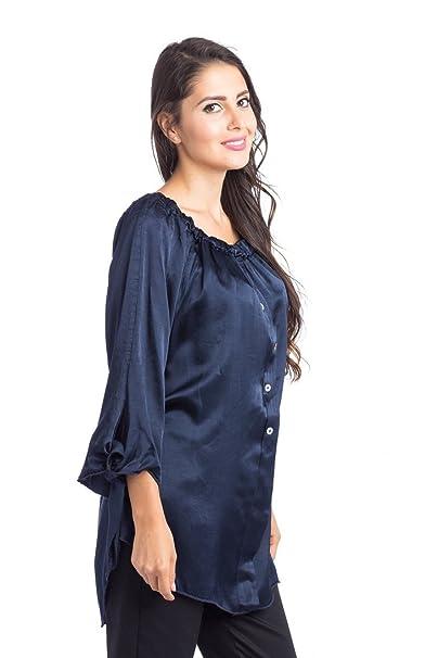 Abbino 66450 Blusa Top para Mujer 5 Colores - Verano Otoño Invierno Mujeres Femeninas Elegantes Formales Camisa Manga Larga Casual Vintage Fiesta Fashion ...