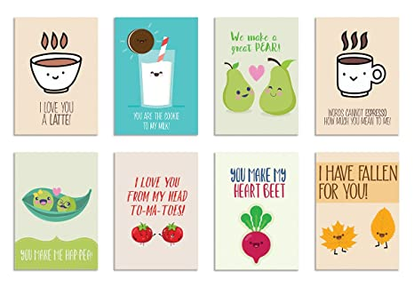 Alterego Cute Puns For Love Set Of 8 Postcards Amazonin Office