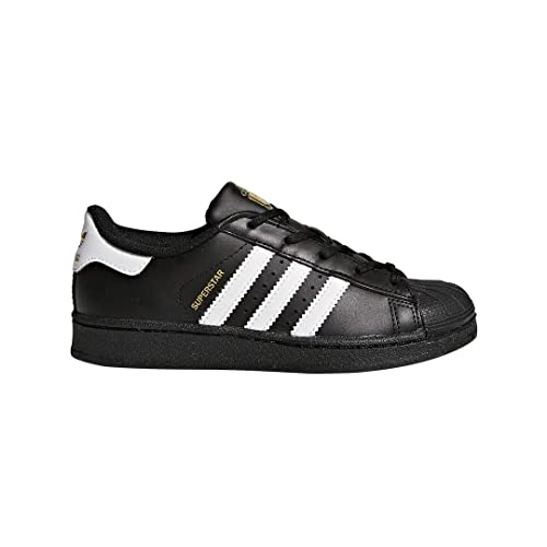 adidas Originals Kids' Superstar Sneaker, Black White